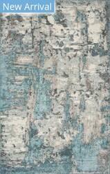 Kas Watercolors 6233 Ivory - Teal Area Rug