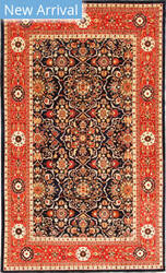Kashee Vintage Oak Black - Rust Area Rug