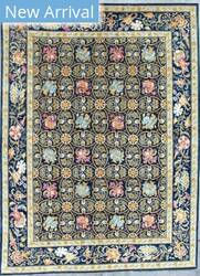 Kashee Tabriz OAK Blue Area Rug