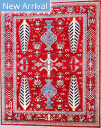 Kashee Taro OAK Red Area Rug