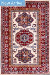 Kashee Royal Kazak OAK Ivory - Rust Area Rug