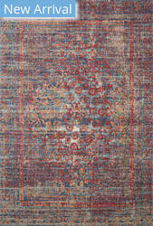 Loloi II Nour Nu-05 Red - Navy Area Rug
