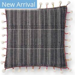 Loloi Justina Blakeney Pillows P0803 Black - White Area Rug