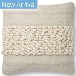 Loloi Justina Blakeney Pillows P0805 Ivory - Grey Area Rug