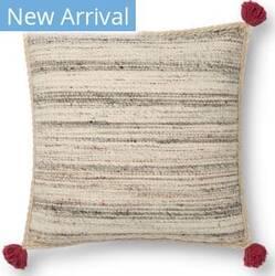 Loloi Justina Blakeney Pillows P0804 Charcoal - Multi Area Rug
