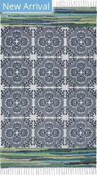 Lr Resources Global Goods 4203 Navy - Turquoise Area Rug