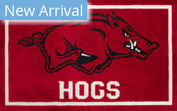Luxury Sports Rugs Team University Of Arkansas Red Area Rug