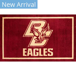 Luxury Sports Rugs Team Boston College Maroon Area Rug