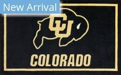 Luxury Sports Rugs Team University Of Colorado Black Area Rug