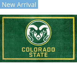 Luxury Sports Rugs Team Colorado State University Green Area Rug