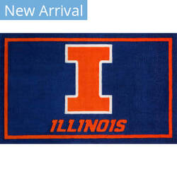 Luxury Sports Rugs Team University Of Illinois Blue Area Rug