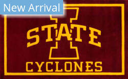 Luxury Sports Rugs Team Iowa State University Red Area Rug