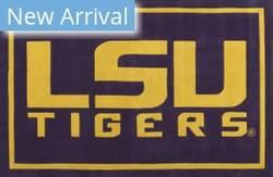 Luxury Sports Rugs Tufted LSU Purple