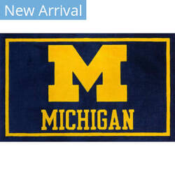 Luxury Sports Rugs Team University Of Michigan Blue Area Rug