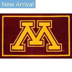 Luxury Sports Rugs Team University Of Minnesota Maroon Area Rug