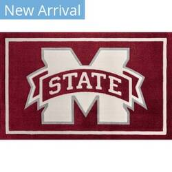 Luxury Sports Rugs Team Mississippi State University Maroon Area Rug