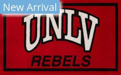 Luxury Sports Rugs Team University Of Nevada Red Area Rug