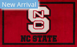 Luxury Sports Rugs Team North Carolina State University Red Area Rug