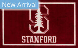 Luxury Sports Rugs Team Stanford University Red Area Rug
