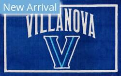 Luxury Sports Rugs Team Villanova University Blue Area Rug