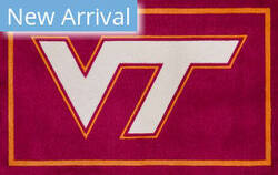 Luxury Sports Rugs Team Virginia Tech University Maroon Area Rug