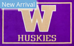 Luxury Sports Rugs Team University Of Washington Purple Area Rug