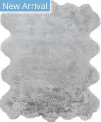 Momeni Sable Faux Fur SBL-1 Grey Area Rug