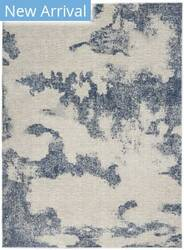 Nourison Etchings Etc03 Ivory - Light Blue Area Rug