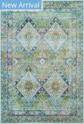 Nourison Ankara Global Anr07 Blue - Green Area Rug