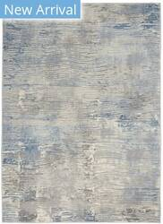 Nourison Solace Sla01 Ivory - Grey - Blue Area Rug