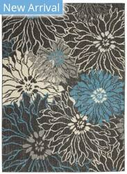 Nourison Passion Psn17 Charcoal - Blue Area Rug