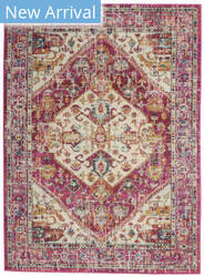Nourison Passion Psn23 Ivory - Pink Area Rug
