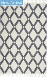 Nourison Serenity Shag Srs01 Ivory - Slate Area Rug