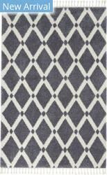 Nourison Serenity Shag Srs01 Slate - Ivory Area Rug
