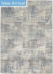 Nourison Solace Sla03 Ivory - Grey - Blue Area Rug