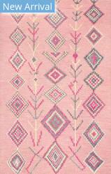 Famous Maker Hand Tufted Belini Pink Area Rug