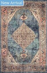 Famous Maker Traditional Essie Blue Area Rug