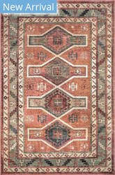 Famous Maker Traditional Monica Orange Area Rug