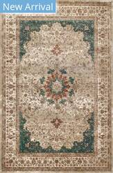 Famous Maker Traditional Kristie Green Area Rug