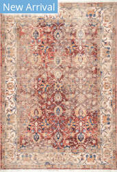 Famous Maker Vintage Desiree Red Area Rug