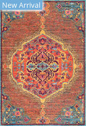 Famous Maker Vintage Maranda Orange Area Rug