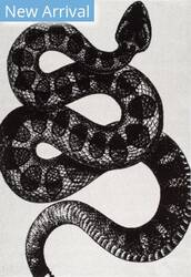 Famous Maker Thomas Paul Serpent Black And White Area Rug
