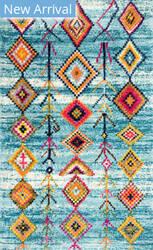 Famous Maker Bohemian Tori Blue Area Rug