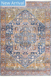 Famous Maker Ehtel Medallion Rust Area Rug
