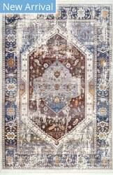 Famous Maker Chikita Medallion Rust Area Rug