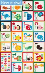 Famous Maker Alphabet Block Multi Area Rug