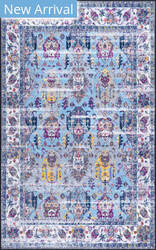Nuloom Lynette Vintage Light Blue Area Rug