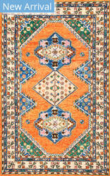 Famous Maker Traditional Violet Orange Area Rug