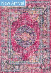 Famous Maker Persian Arla Fuchsia Area Rug