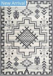 Nuloom Richelle Tribal Medallion Grey Area Rug